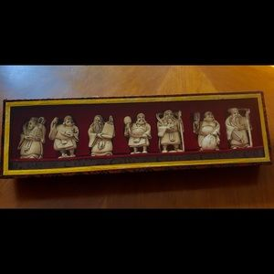 Other - Exquisite 7 hand carved ivory Chinese figures